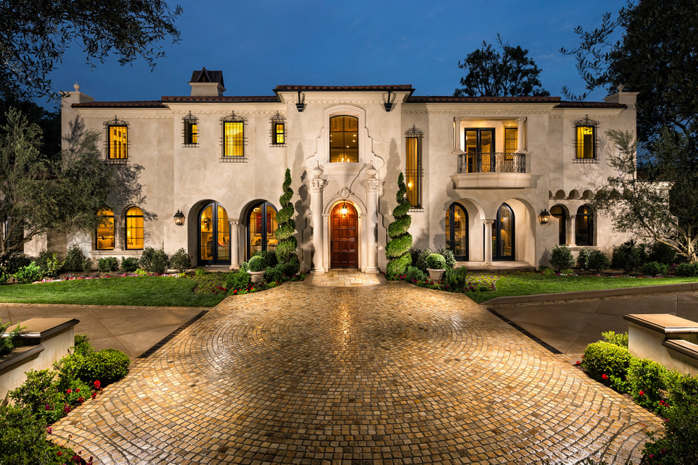 mediterranean-exterior home tiled driveway ideas better decorating bible blog bars over windows