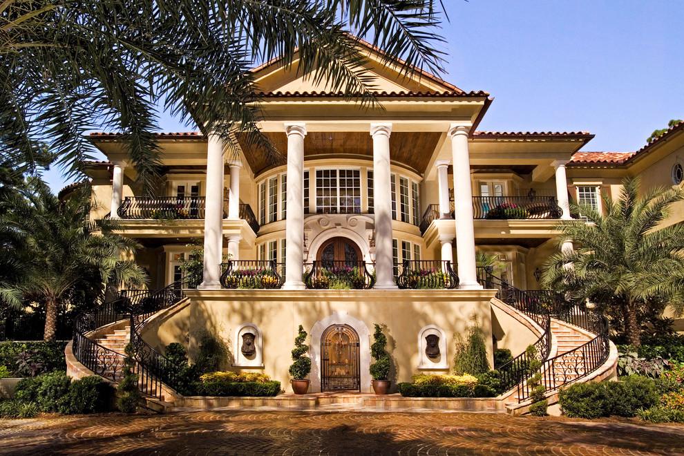 mediterranean exterior mansion columbs better decorating bible blog
