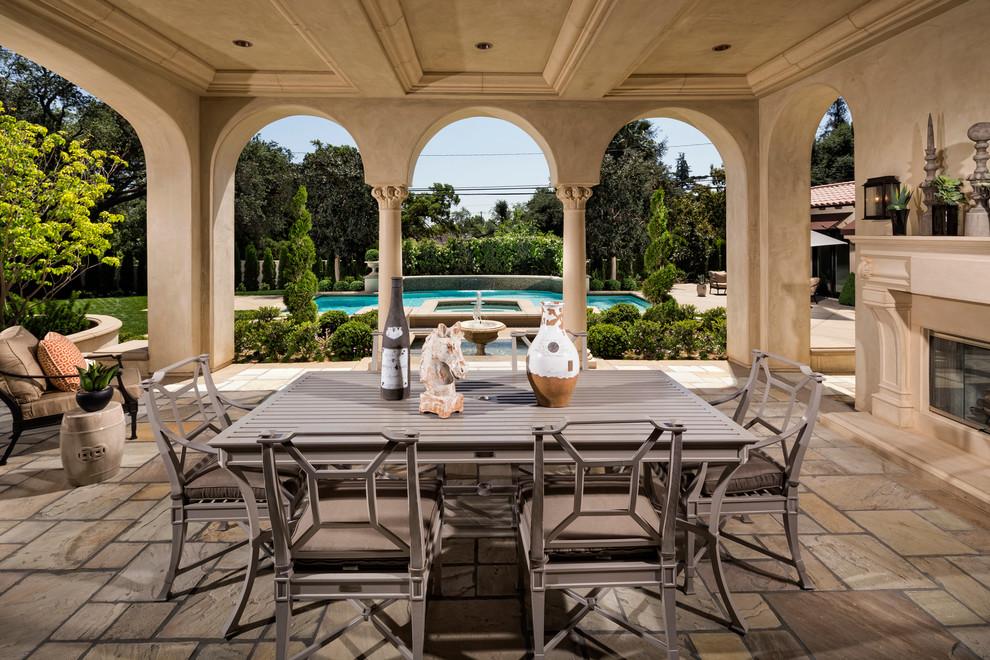 Home Tour: Modern Mediterranean Beauty in San Gabriel ... on Small Mediterranean Patio Ideas id=50585