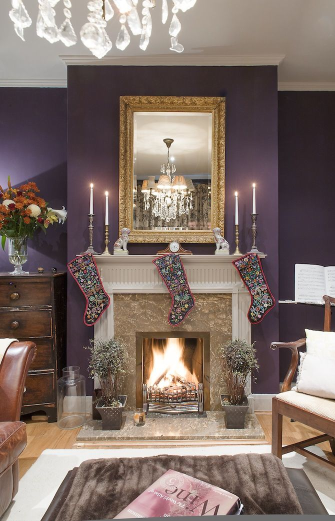10 cozy homes you ll want to snuggle in this winter Purple living room decor