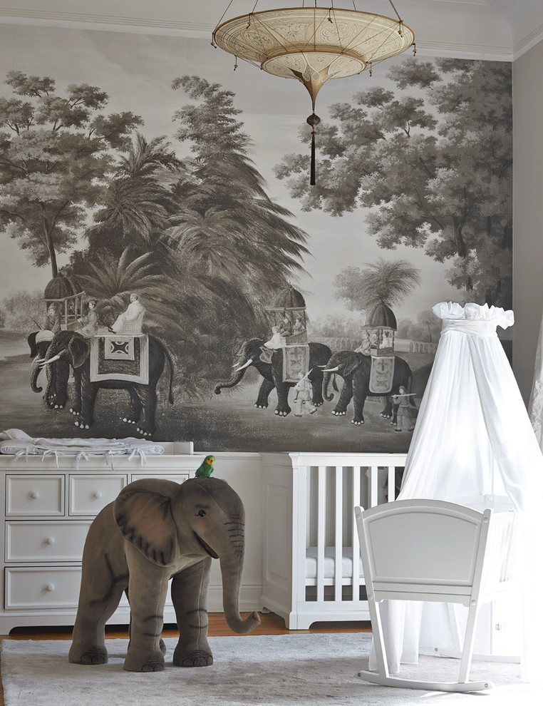 Australia living tour these 10 safari decor inspired for Elephant wall mural
