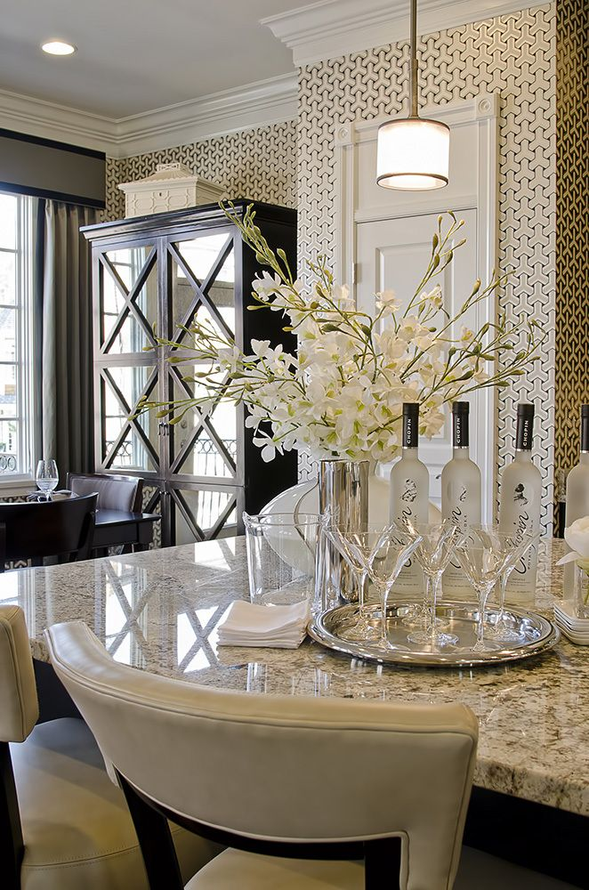 Dream kitchen cook up a storm in these 7 glamorous for Kitchen and dining room wall decor