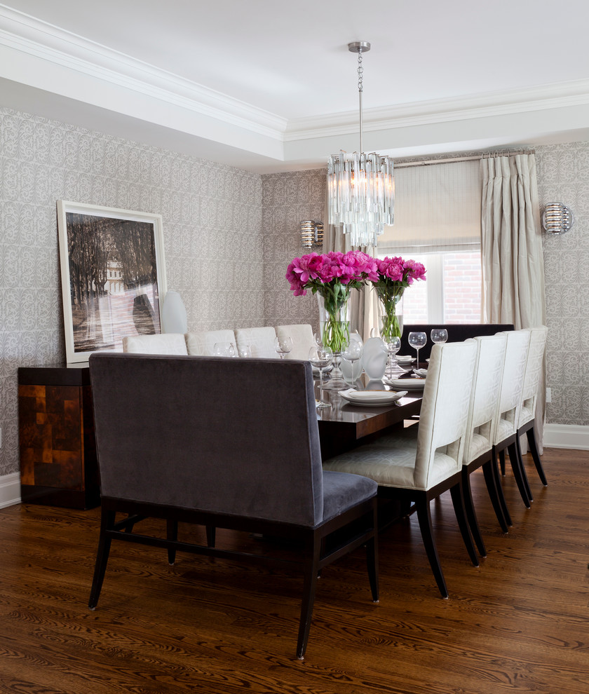 Dining chair trends for 2016 from vintage elegance to for Dining room table with bench