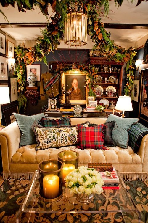 plaid christmas sofa decor ideas how to dress up your couch for the holidays