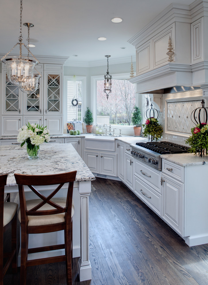 white kitchen ivory walls dark hardwood flooring decor how to ideas subway tiles backsplash diamons