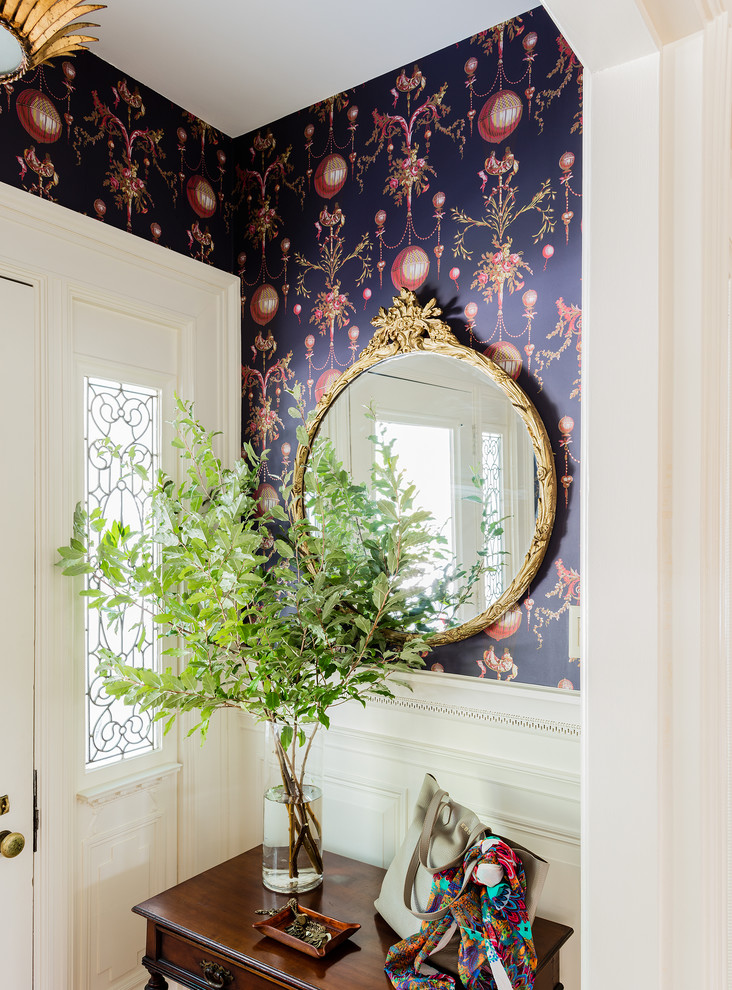 antique mirror in entrance ideas decor