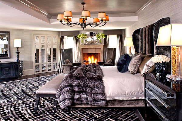 kris jenner bedroom kardashian decor interior designer