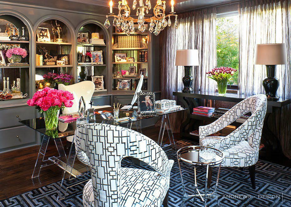 kris jenner home office decor interior designer