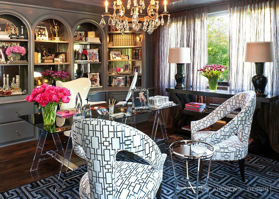 kris jenner home office decor interior designer