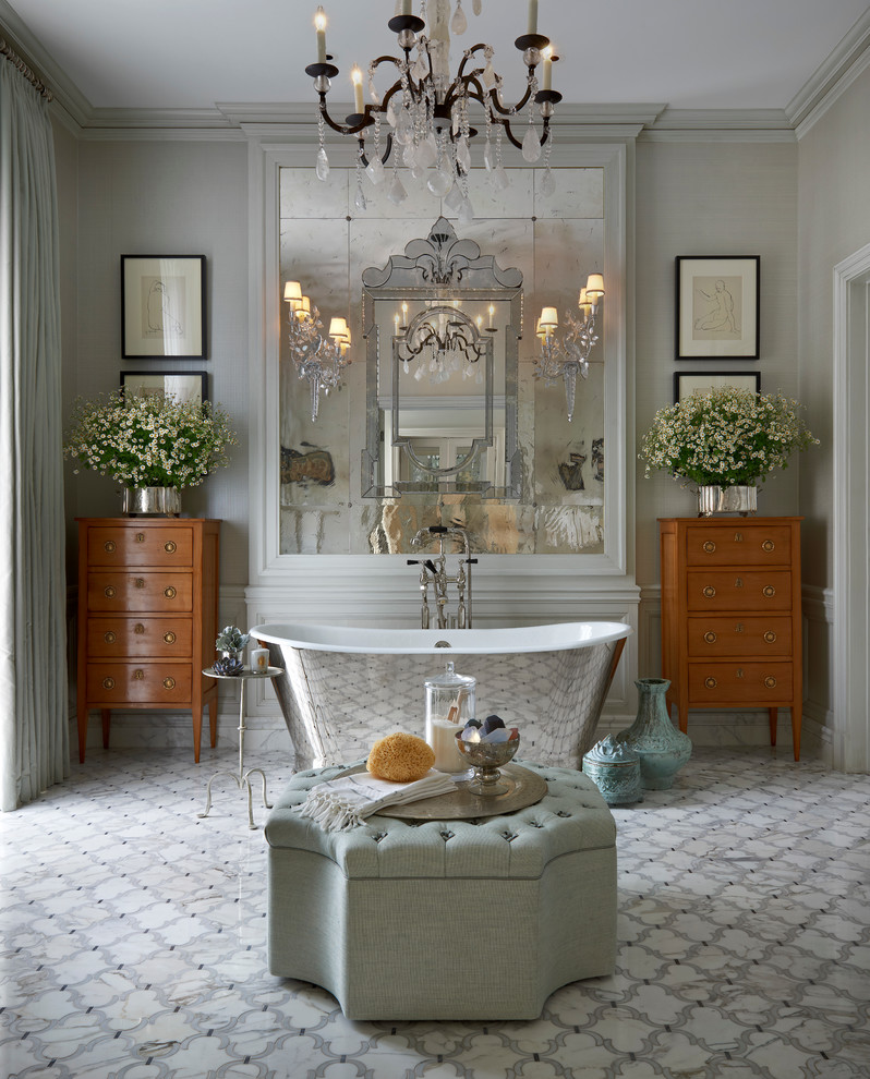 Hot For 2016 Decorating Your Bathroom In Silver Hues Our Favorite Silver Decorated Bathrooms