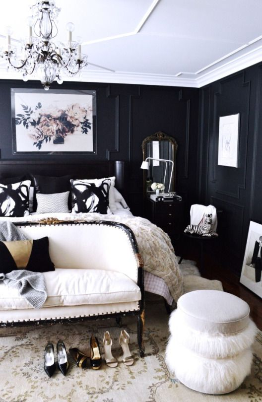 black panelled bedroom decor ideas louis style