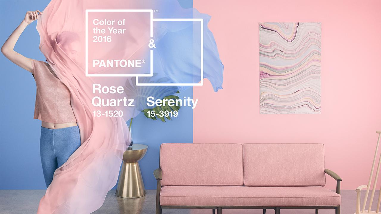 color of the year rose quartz serenity