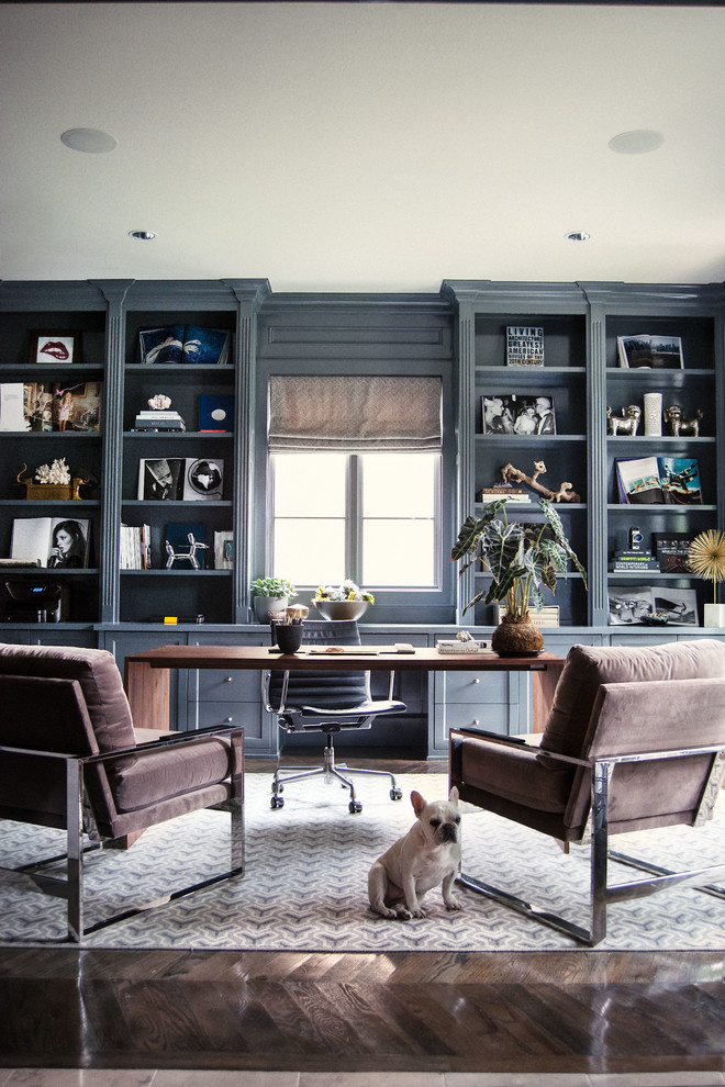 home office decor black shelving ideas