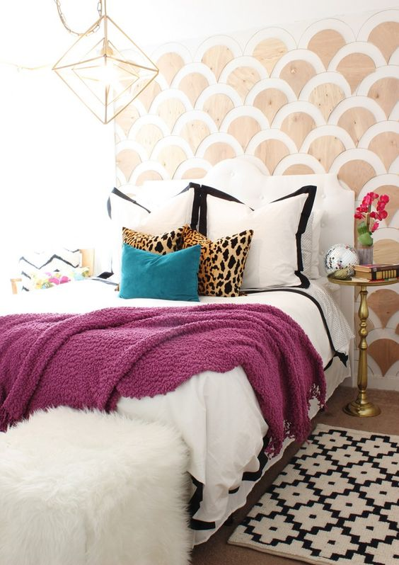 leopard pretty girly bedroom decor