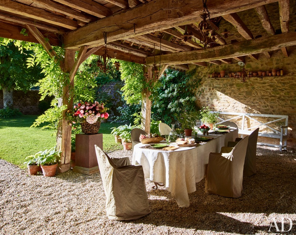 Decorating Backyard Outdoor French Patio Backyard Decor Ideas