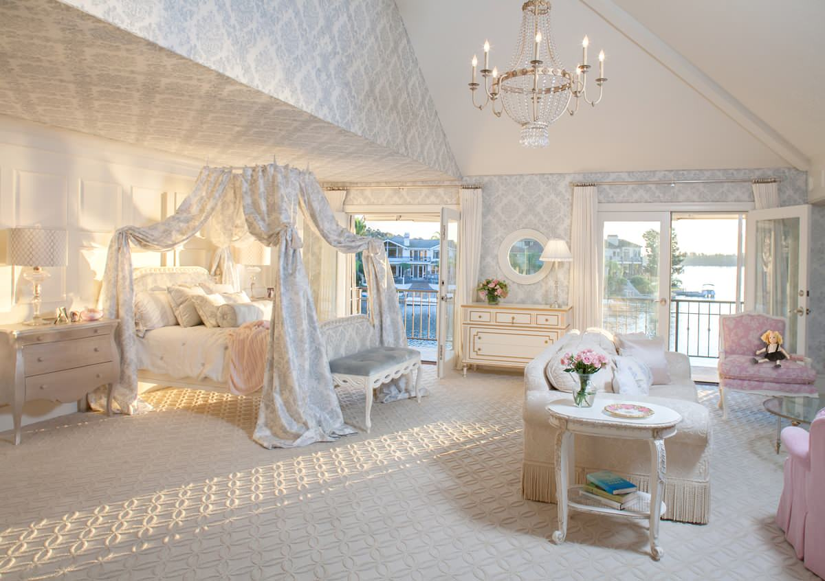 Fit for a princess decorating a girly princess bedroom for Princess style bedroom furniture