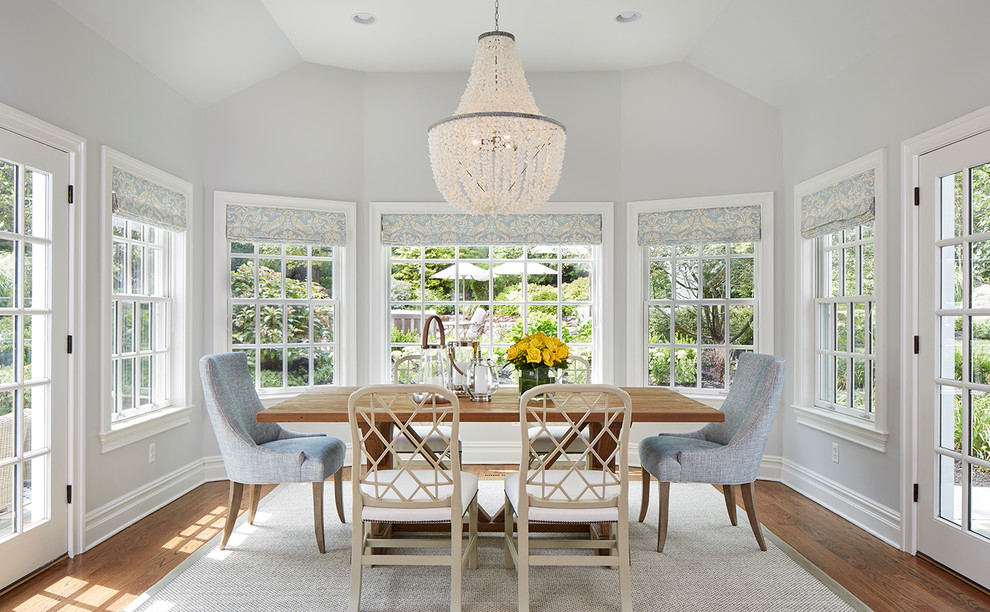 dining room sky blue decor ideas country style