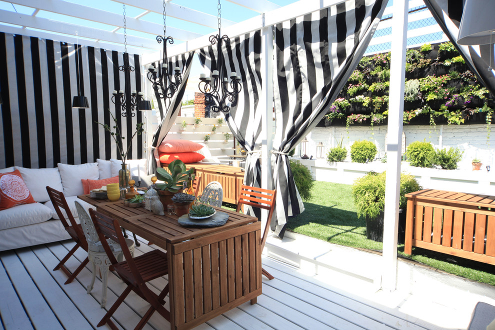 7 Trendy Deck Decorating Ideas for Spring + My Monochrome ... on Black And White Patio Ideas id=51553