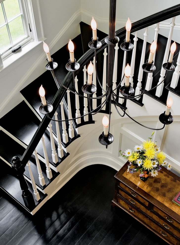 black stairs makeover