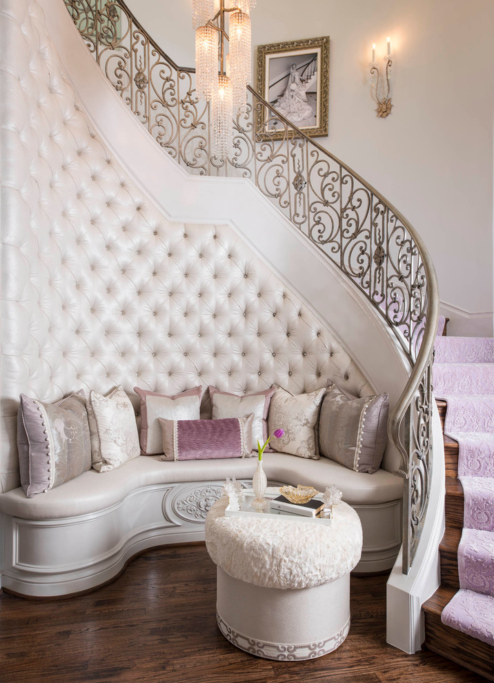 french staircase princess pink runner decorating stair makeover ideas