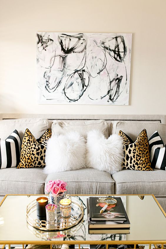 Glam Living Room Decorating Apartment Ideas Gold Coffee Table