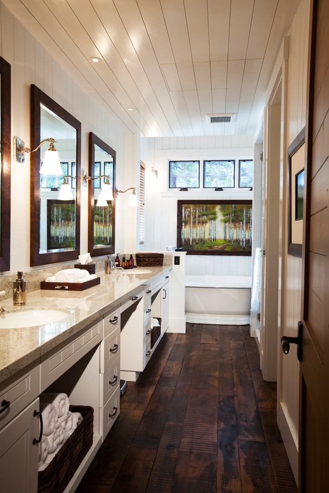 We are obsessed with these 7 gorgeous bathroom trends for Dark wood bathroom designs