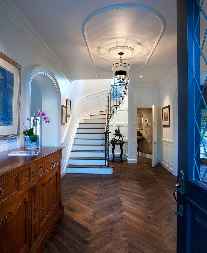 hardwood floors entrance decor