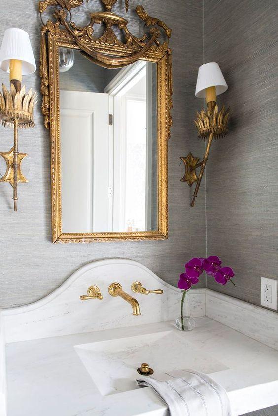 marble sink bathroom powderroom decorating ideas