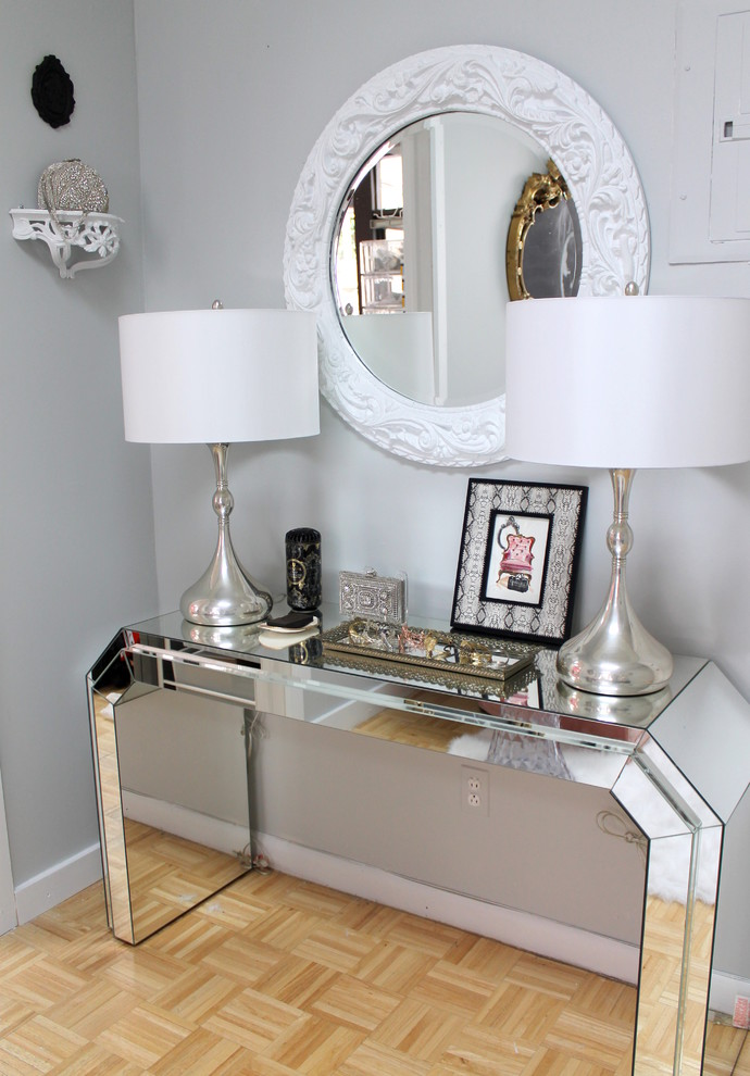 1 mirrored console table entryway entrance glam decorating