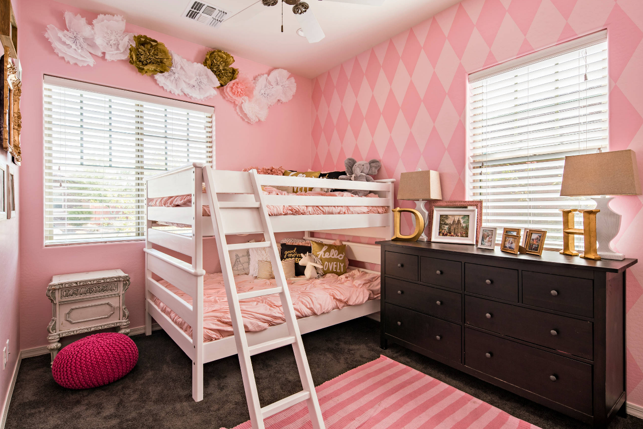 pink modern ikea girls kids room decorating ideas how to stripes
