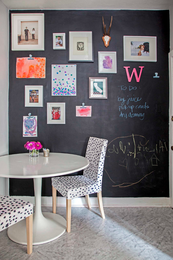 Amazingly easy diy chalk board walls for your kids for Accent wall color ideas for kitchen