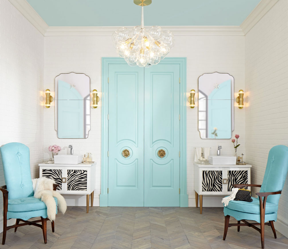 Tiffany blue bathroom designs - Metrie Moulding Bathroom Decorating Door Moulding Tiffany Blue