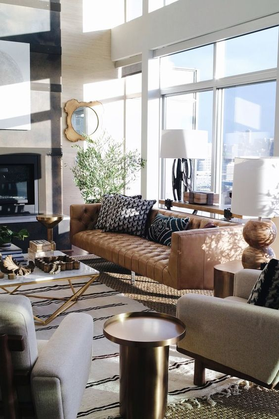 Tanned Leather Sofas Are The Hottest Decorating Trend Of 2016