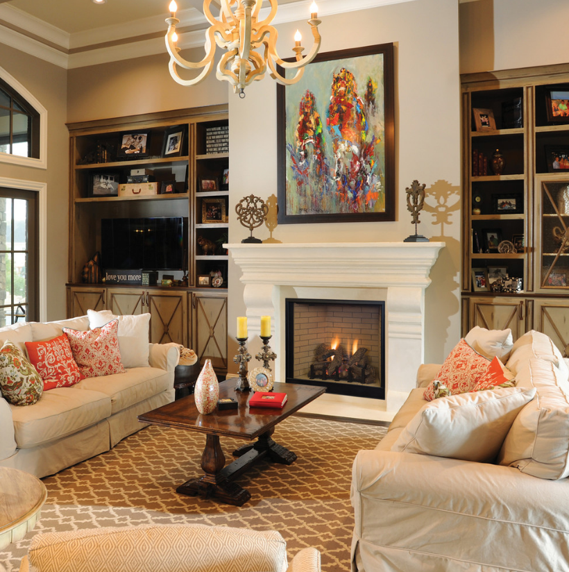 Use underfloor heating to make your home feel luxurious Family room design ideas with fireplace