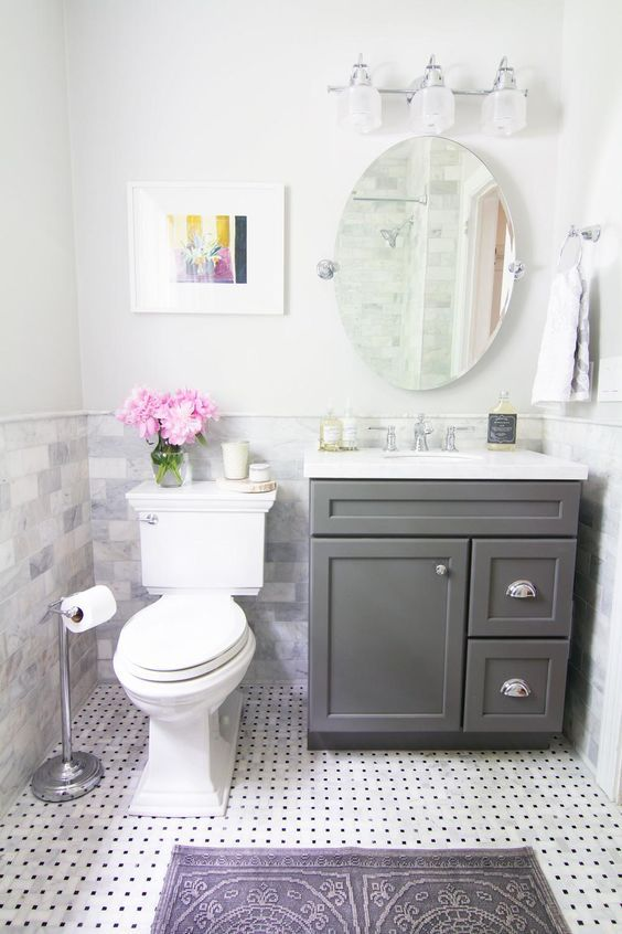 The easiest and cheapest bathroom updates that work for Simple cheap bathroom designs