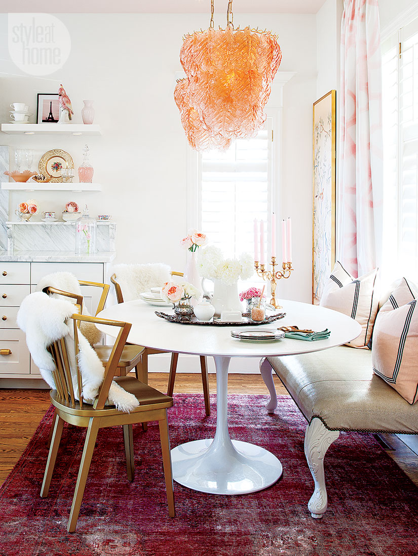 dining-room-peach-pink-decorating-cute-pretty