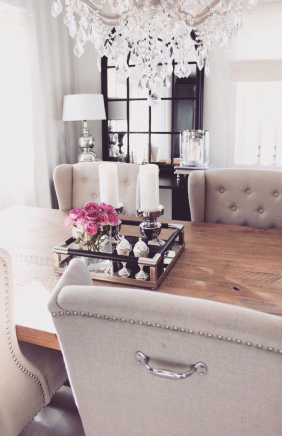 glam-candles-dining-table-decor-chandelier-gorgeous