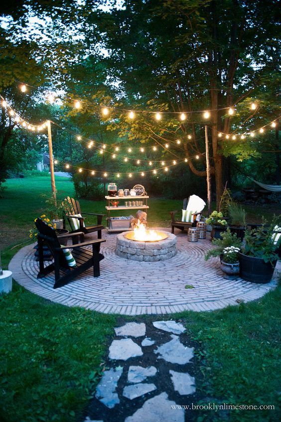 Outdoor Firepit Ideas Backyard Fall Party