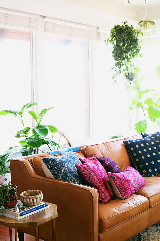 bohemian-leather-sofa-couch-decorating-ideas-tan-couch