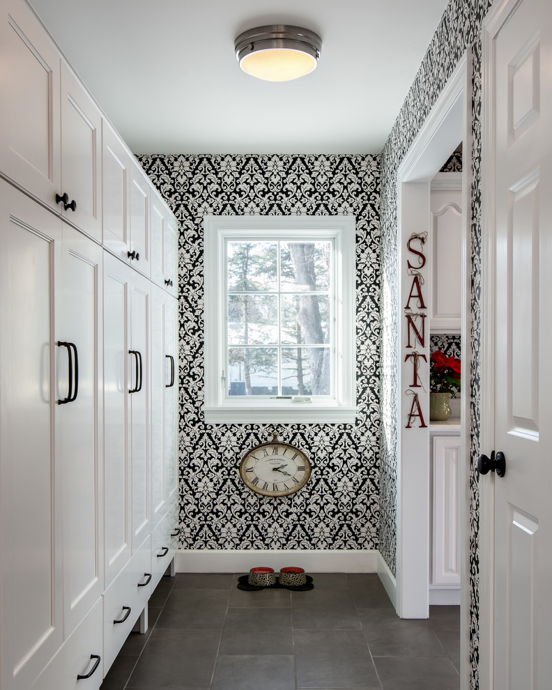 christmas-holiday-damask-wallpaper-beautiful-decorating-laundry-room-ideas