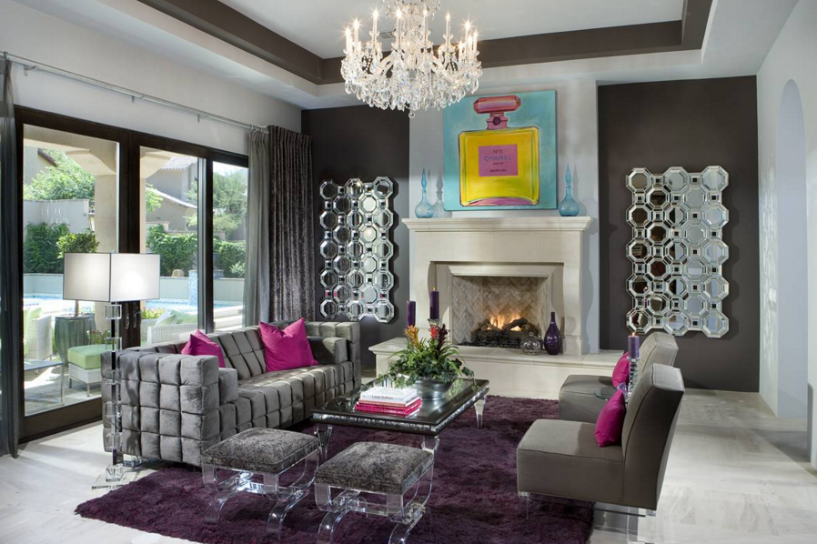 luxurious-living-room-grey-decor-velvet-sofa