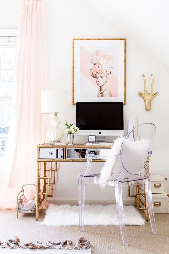 photo-pretty-pink-mirrored-desk-office-glam-glamorous-lucite-ghost-chair-decorating-ideas
