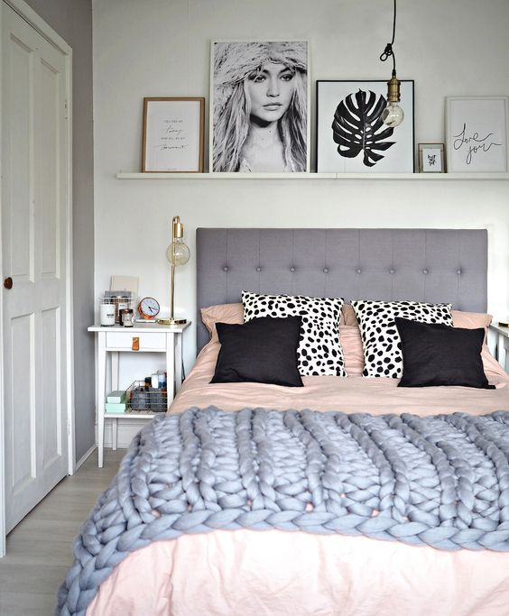 White And Grey Room: Giving Your Bedroom A Scandinavian Makeover