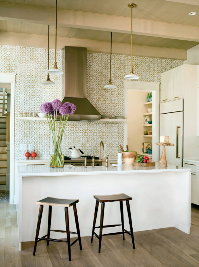 cream white gold kitchen tiles decorating ideas island & The Newest Tile Trends For 2017 ...