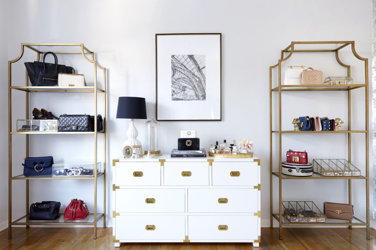 home-office-tour-decorating-ideas-white-gold-campaign-desk