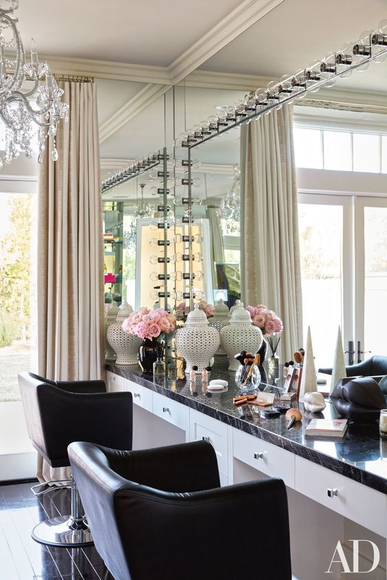 Fabulous Makeup Glam Rooms and How to Decorate Your Own ... on Makeup Room Design  id=16026