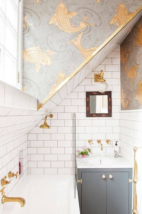 5 Reasons to Use these Fabulous Bathrooms as Inspiration ... on slanted wall decoration ideas, slanted wall bedroom, tilted wall bathroom designs,