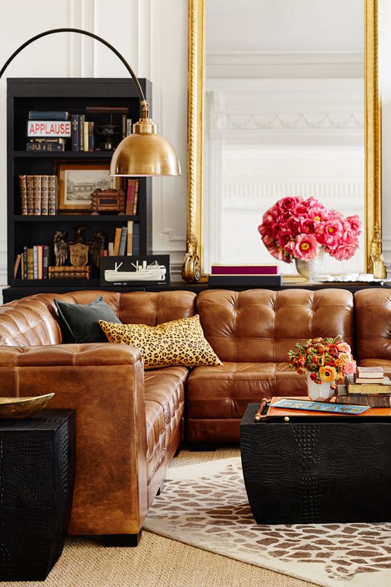 Unique Leather Couch Living Room Ideas Decor