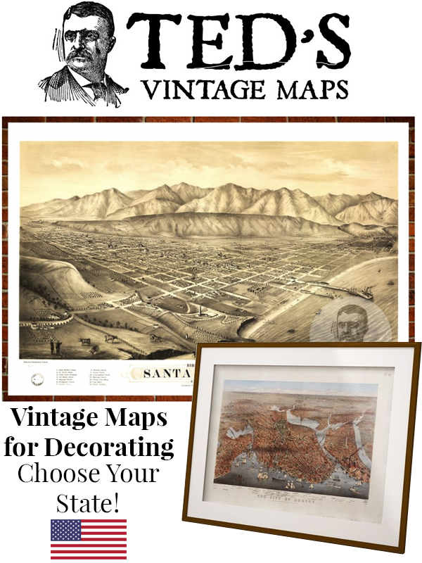 Decorating With Old Maps Has Never Been More Popular For 2018, And We Love  The Fact That Itu0027s Super Easy To Do This Thanks To Companies Like Tedu0027s  Vintage ...